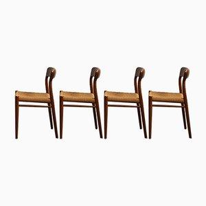 Dänische Esszimmerstühle aus Teak von Niels Otto Møller für J.L. Møllers, 1960er, 4er Set