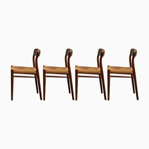 Danish Teak Dining Chairs by Niels Otto Møller for J.L. Møllers, 1960s, Set of 4