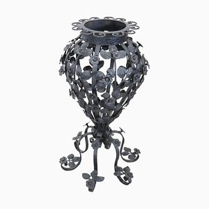 Art Nouveau Forged Iron Umbrella Holder