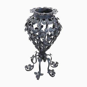 Art Nouveau Forged Iron Umbrella Holder