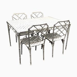 Aluminum Garden Table and Chairs Set from Brown Jordan, 1960s