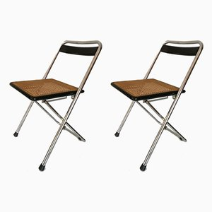 Esszimmerstühle aus Metall, 1970er, 2er Set