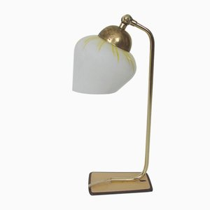 Modernist Brass and Glass Table Lamp, 1960s