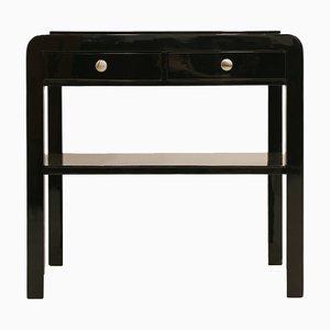 Mesa auxiliar Art Déco antigua de madera