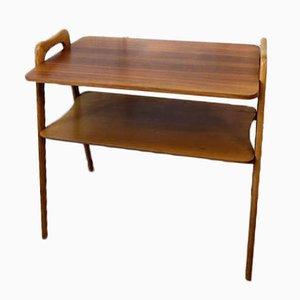 Mid-Century Walnut Side Table, 1950s