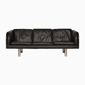 Danish Model EJ 03/20 Black Leather Sofa by Jörgen Gammelgaard for Erik Jørgensen Møbelfabrik, 1980s