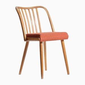 Esszimmerstuhl mit Stoffsitz & Gestell aus Eiche von Michael Thonet für TON, 1960er
