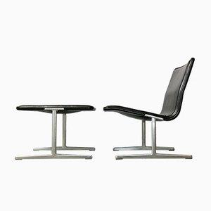 Chaise et Tabouret 601/602 RZ Zapf Noirs par Dieter Rams pour Vitsœ, 1960s