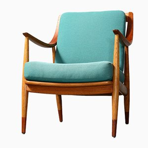 FD 144 Armchair by Peter Hvidt & Orla Mølgaard-Nielsen for France & Daverkosen, 1950s