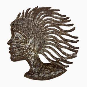 Sculpture Brutaliste Vintage en Acier par Serge Jolimeau, 1980s