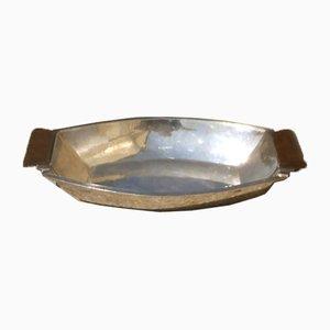 Silberne Vintage Schale von Gallia