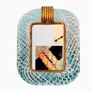 Cornice da foto in vetro Torchon di Murano di Venini, anni '60