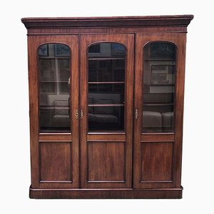 Antique Mahogany Library Cabinet