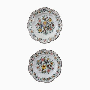 Hand-Painted Ceramic Plates by Giovanni Notari for C.A.M. Gubbio, 1940s, Set of 2