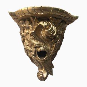 Antikes Wandregal aus Blattgold & Gips