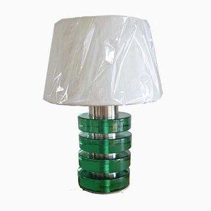 Lámpara de mesa italiana de cristal de Murano, años 60