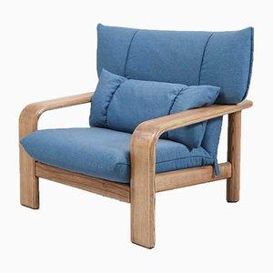 Moderner Sessel mit Stoffbezug & Holzgestell von Rolf Benz, 1970er
