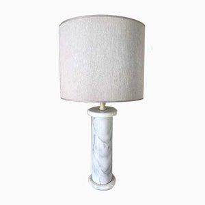 Lampada da tavolo vintage in marmo, anni '70