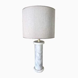 Lámpara de mesa vintage de mármol, años 70