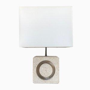 Lámpara de mesa francesa Mid-Century de piedra, años 60