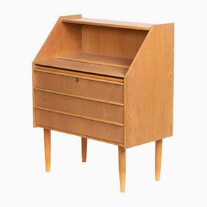 Mid-Century Danish Oak and Veneer Secretaire, 1960s