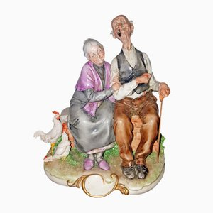 Statuetta vintage in ceramica di Joseph Hood per Giuseppe Cappè