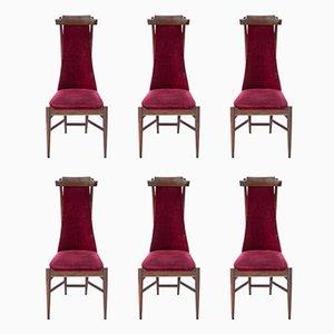 Sillas de comedor de madera de Sergio Rodrigues, años 50. Juego de 6