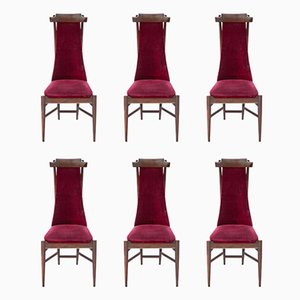 Wooden Dining Chairs by Sergio Rodrigues, 1950s, Set of 6
