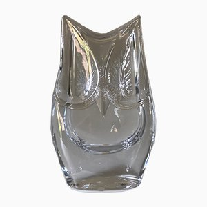 Vintage French Crystal Owl from Daum