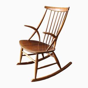 Rocking Chair N°3 en Hêtre par Illum Wikkelsø pour Niels Eilersen, Danemark, 1958