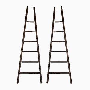 Mid-Century Oak Ladder, 1950s