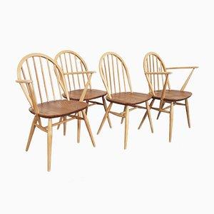 Chaises Windsor Vintage par Lucian Ercolani pour Ercol, 1960s, Set de 4