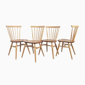 Vintage Windsor Bow Top Dining Chairs by Lucian Ercolani for Ercol, 1960s, Set of 4