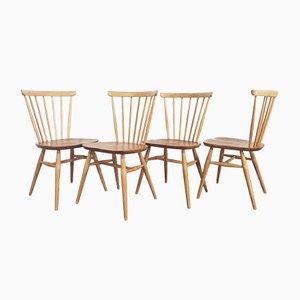 Vintage Windsor Esszimmerstühle mit Bogenlehne von Lucian Ercolani für Ercol, 1960er, 4er Set