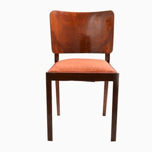 Vintage Walnut Veneer Side Chair, 1930s
