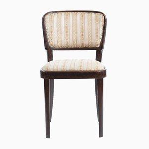 Esszimmerstuhl mit Stoffsitz & Gestell aus Eiche von Michael Thonet für Thonet, 1930er