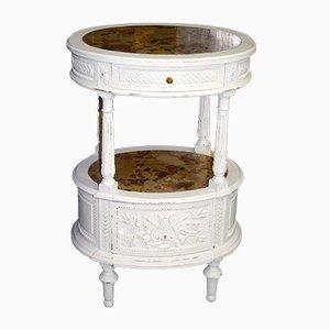 Antiker Nachttisch aus geschnitzter Eiche im Stil von Louis XVI