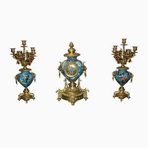 Objetos de decoración estilo Luis XVI antiguos. Juego de 3