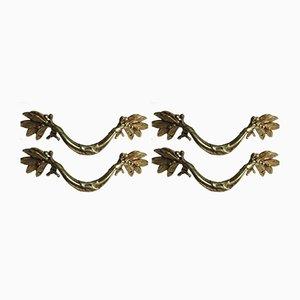 Maniglie antiche in stile Luigi XVI, set di 4