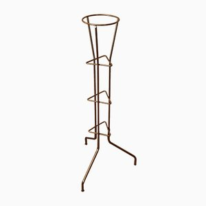 Mid-Century German Anodized Aluminum Plant Stand, 1960s
