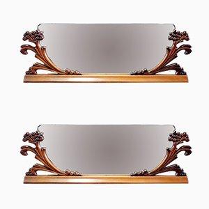 Miroirs Art Déco Vintage, Italie, 1920s, Set de 2