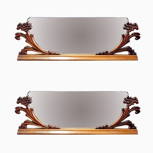 Vintage Art Deco Italian Mirrors, 1920s, Set of 2