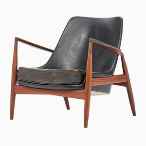 Model Seal Teak Lounge Chair by Ib Kofod Larsen for OPE, 1957