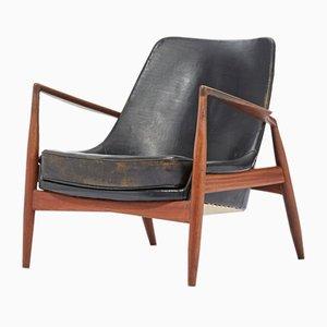 Modell Seal Sessel mit Gestell aus Teak von Ib Kofod Larsen für OPE, 1957