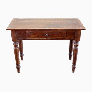 Vintage Hand-Crafted Chestnut and Fir Desk, 1980s