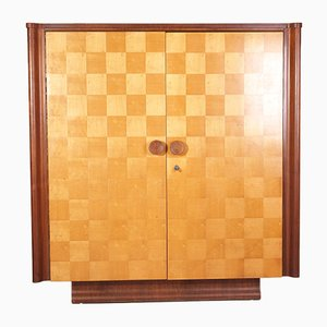Birch and Mahogany Chess Board Cabinet by Jindřich Halabala for UP Závody, 1940s