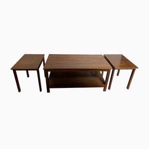 Rosewood Nesting Tables by Robert Heal for Heal's, 1960s, Set of 3