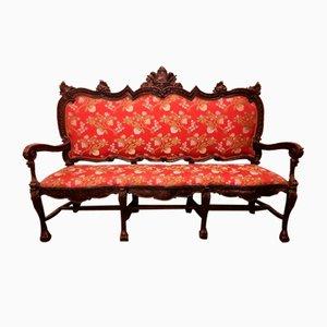 Mid-Century Italian Walnut Sofa, 1960s