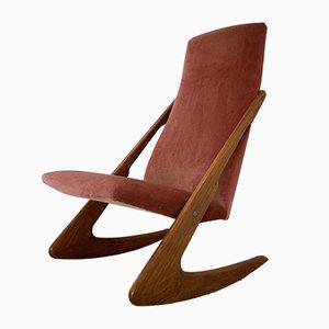 Rocking Chair Boomerang Mid-Century par Mogens Kold, 1960s