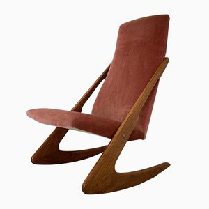 Sedia a dondolo Boomerang Mid-Century di Mogens Kold, anni '60